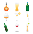 Icons for drinks vector image vector image