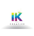 ik i k colorful letter origami triangles design vector image vector image