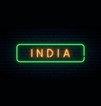 india neon sign bright light signboard banner vector image vector image