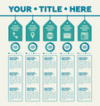 infographics elements 5 labels with icons and pie vector image