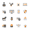 Internet Security Icon Set vector image vector image