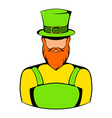 irish leprechaun icon icon cartoon vector image vector image