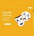 landing page theatre festival concept vector image
