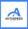 letter a logo - auto speed vector image vector image