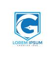 letter g business logo design template vector image vector image