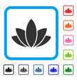 lotus flower framed icon vector image