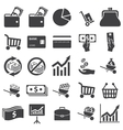 Money set icon vector image
