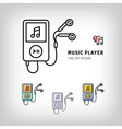 Music player isolated icon vector image vector image