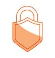 padlock security symbol vector image vector image