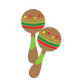 pair of maracas icon musical instrument vector image vector image