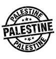 palestine black round grunge stamp vector image vector image