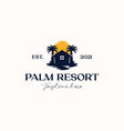 palm tree house logo template isolated in white vector image vector image