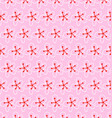pattern white flowers on a pink background vector image vector image