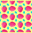 pattern with strawberries and leaves vector image