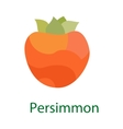 Persimmon fruit logo sweet food icon isolated on vector image vector image