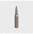 Photorealistic cartridge with a bullet in