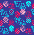 pineapple blue and pink bright seamless vector image