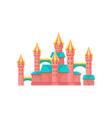 pink castle amusement park element vector image vector image