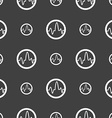 pulse Icon sign Seamless pattern on a gray vector image vector image