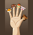 puppet fingers vector image
