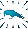 raven paper icon on white background vector image vector image