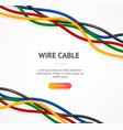 realistic detailed 3d wire cable concept ad poster vector image vector image