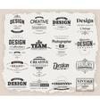 Retro Design Creative Vintage labels vector image