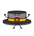 ribbon men hat kawaii cartoon vector image vector image