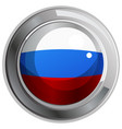 round icon for russia flag vector image vector image