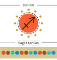 sagittarius signs of zodiac flat linear icons vector image vector image