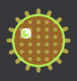 sea urchin isolated on background vector image