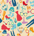 seamless pattern fashion and clothes accessories vector image vector image
