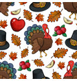 seamless pattern with turkey vector image vector image
