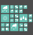 set of 25 web icons of weather vector image vector image