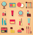 Set of beauty and cosmetics icons Makeup vector image