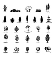 Set of hand drawn sketch trees vector image vector image