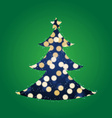 Shining Lights Christmas Tree vector image vector image