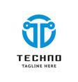 simple technology symbol logo vector image