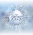 snow globe with zodiac sign Libra vector image vector image
