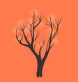 Stylized single tree on textured background vector image