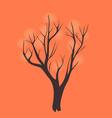 Stylized single tree on textured background