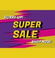 super sale banner art vector image vector image