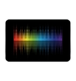 tablet equalizer vector image vector image