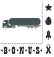 tank car icon trailer vector image vector image