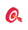 target advertising commerce marketing icon vector image vector image