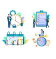 task management concept isolated vector image vector image