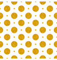 tile pattern with big golden polka dots on white b vector image vector image
