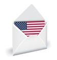 usa flag in opened envelope holiday indepen vector image