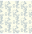 Vintage seamless pattern with floral ornament vector image vector image