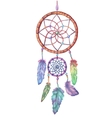 Watercolor dream catcher Hand drawn vector image vector image
